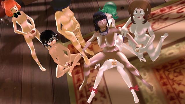 hyuuga hinata+matoi ryuuko+peni parker+penny polendina+shuten douji (fate grand order)+tatsumaki+uraraka ochako